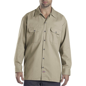 Dickies 574 Camisa Trabajo Uso Rudo Manga Larga Khaki S-xxl