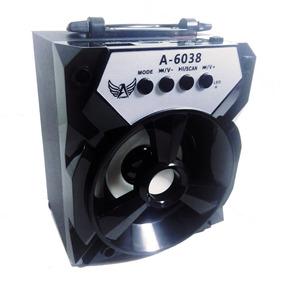 Caixa Caixinha Som Sem Fio Bluetooth Recarregável A-6038