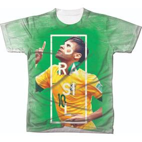 Camiseta Camisa Manga Curta Copa Do Mundo Seleção Futebol 04