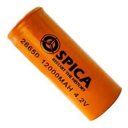 Pila Bateria Recargable Spica 26650 4.2v 12000mah