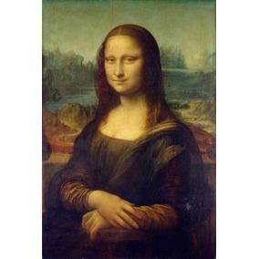 Lienzo Tela La Mona Lisa 1506 Leonardo Da Vinci 75 X 50 Cm