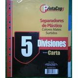 Separadores De Plastico De 5 Divisiones Printa
