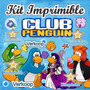 Kit Imprimible Club Penguin Candy Bar Invitacion Fiesta