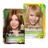 Coloración Tintura Permanente Nutrisse Garnier Pack 2 Kits