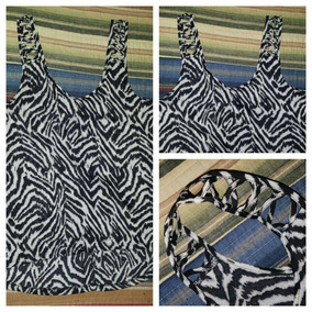 H&m-musculosa Animal Print-talle S