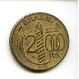 Egoto-v 160-moeda 2.000 Réis 1936 Duque De Caxias