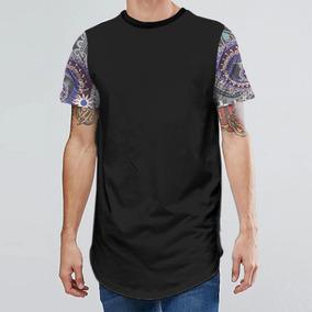 Camiseta Unissex Oversized Longline Swag Mangas Retro 3 Mt