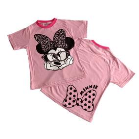Fantasia Infantil Camiseta Minnie Disney Rosa