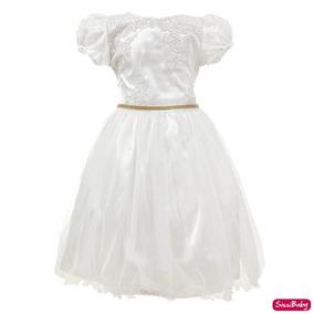 Vestido Infantil Princesa Daminha Formatura Aniversário 4/12