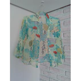 Camisa Feminina Seda Estampada