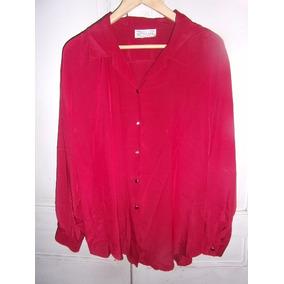 Camisa De Satén Para Dama , Talle Xl, Nueva.