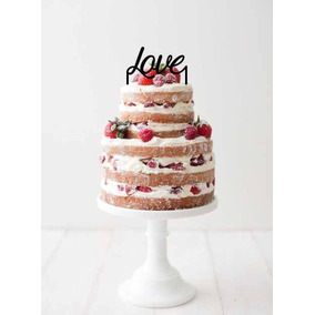 Aplique Torta Decoracion Evento Madera 20cm Frase Amor Love