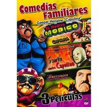 Dvd Con 3 Peliculas Santo Contra Capulina El Medico Modico