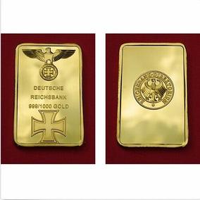Miniatura Barra De Ouro Alemanha 2° Guerra + Case Acrílico