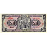 Grr-billete De Ecuador 20 Sucres 1988