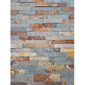 Piedra Natural Laja Brick Oxido, Paredes, Comedor, Por M2