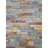 Placas De Piedra Natural Laja Brick 15x60 Oxido Por M2