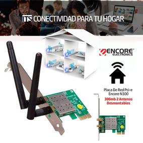 Placa De Red Pci-e Encore N300 300mb 2 Antenas Desmontables