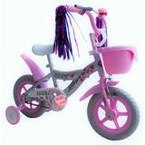 Bicicleta Infantil Para Niña Rodada 12 Llantas Entrenadoras
