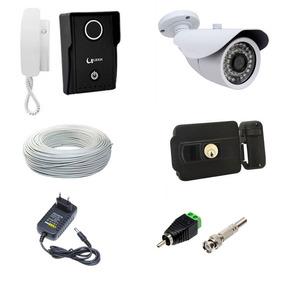 Video Porteiro Eletronico Camera Fechadura Portao