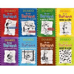 Coleção Diário De Um Banana - 8 Volumes - Capa Dura