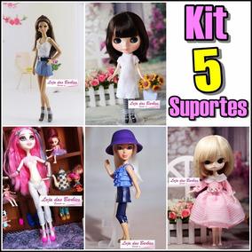 Kit Lote 5 Suporte Mimo Takara P/ Boneca Blythe Licca Pullip