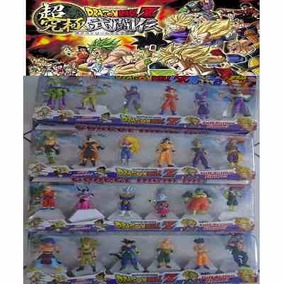 Kit 24 Bonecos Dragon Ball Dragonball Z Anime Mangá Com Base