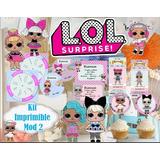 Kit Imprimible Lol Surprise Candy Bar Completo Editable