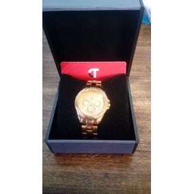 Reloj Tressa Steel Bañado En Oro