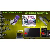 Usb Karaoke 32gb Mas Software Y Micrófono