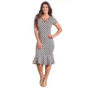 Vestido Feminino Barato Novo Estampado Sino Moda Evangélica