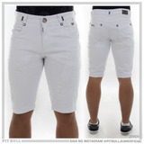 Bermuda Branca Masculina Jeans Pit Bull Original 25909