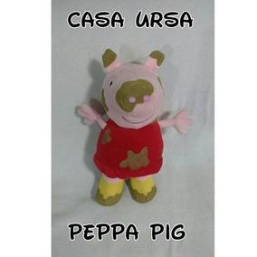 Boneca Pelúcia Peppa Suja De Lama