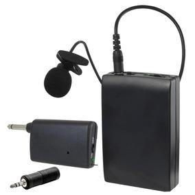Mini Microfone Lapela Sem Fio Profissional Pc P2 P10 Pilha