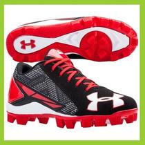 Spikes Beisbol Under 28 Rojo Negro Botin