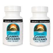 2 Unidades Gamma Oryzanol Source Naturals - 100 Tablets