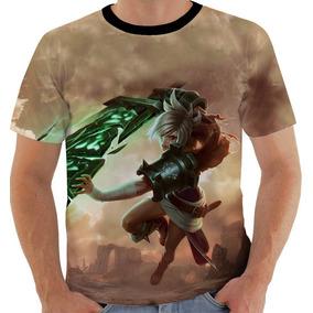 Camiseta 7683 Ou Baby Look Ou Regata League Of Legends Riven