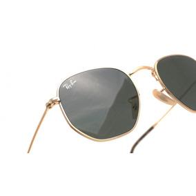 f61fdf7a612ba Óculos De Sol Ray Ban Rb3548 N Flat Hexagonal Dourado G 54mm