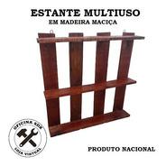 Estante Multiuso Madeira 3 Prateleiras - Artesanal