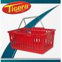 Canasto De Mano Plastico Supermercado Compras Apilable Ca-01