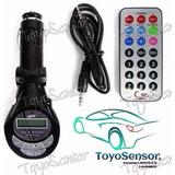 Transmisor Fm Y Adaptador Mp3 Para Carro. Reproductor