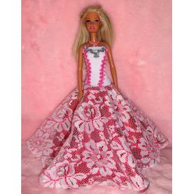 Vestidos Feshion Para Boneca Modelo Barbie E Outras Marcas.