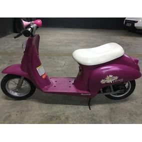 Moto Eletrica Scooter Razor Americana Retrô Para Criança