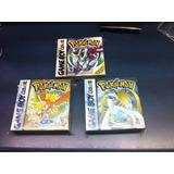3 Cajas Custom Para Juegos Pokemon Gold + Crystal + Silver