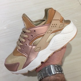 Tenis Zapatillas Nike Huarache Ocre Special Edit Mujer Env