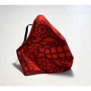 Cubre Bocas Lavable Papel Picado Rojo Adulto