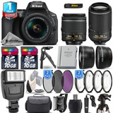 Excelente Kit Nikon D5600 18-55mm Vr + 55-200mm 32 Gb