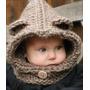 Capucha Con Cuello Tejido A Crochet Niño Niña Bebé Abrigadas
