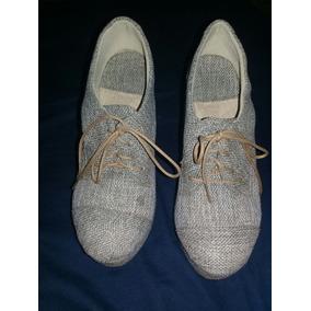 Bellisimos Zapatos De Plataforma Beige Oferta!!