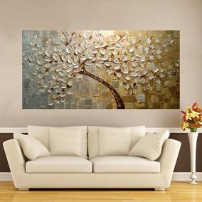 Quadro Abstrato Árvore Moderno 80x180cm Montado Pronto